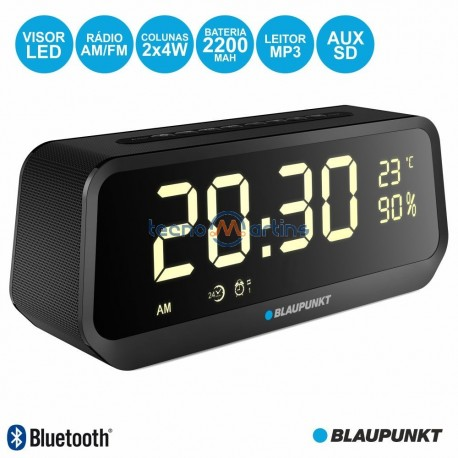 Relógio Despertador FM Bluetooth USB 2x5W BAT - BLAUPUNKT