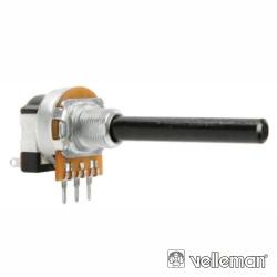 Potenciómetro Linear 220K Metálico c/ Interruptor