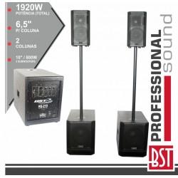 Conjunto Som Amplificado PRO 2.2 1920W Máx MDF - BST