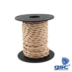 Cabo Textil Trançado ( 2x0.75mm ) Cobre - GSC