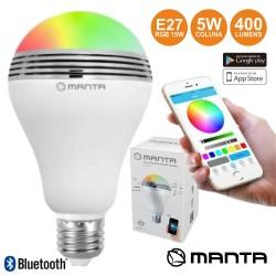 Lâmpada RGB E27 LED BT/Coluna/APP 15W MANTA