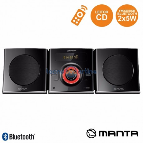 Rádio FM USB/CD/BT/AUX Comando 2X5W MANTA