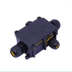 Ligador Estanque C/ Caixa 3Pinos 4Vias P/ Instalações Electricas Exterior (1.0..2.5mm) IP68