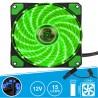 Ventoinha 12V 120x120x25mm c/ 15 LEDs VERDES