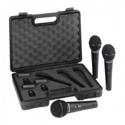 Conjunto de 3 Microfones Dinamicos