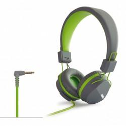 Auscultadores Articulados Estéreo Hi-Fi Verde - Fonestar