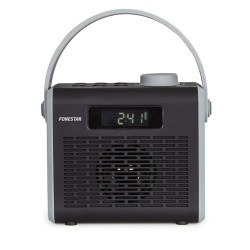 Rádio Portátil FM c/ Bluetooth, USB/MicroSD/AUX - Fonestar