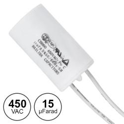 Condensador Arranque 15uf / 450v~ C/ Fios
