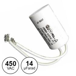 Condensador Arranque 14uf / 450 C/Fios