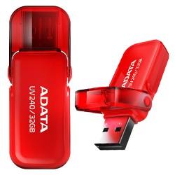 Pen Usb 32Gb 2.0 - Adata UV240 Vermelho