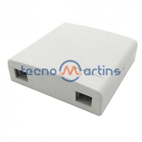Caixa Ótica Terminal de Parede Para 2 Adaptadores SC/LC