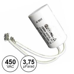 Condensador Arranque 3,75uf / 450v~ C/ Fios