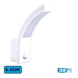 Aplique Exterior LED 10w 6400k 750lm C/ Sensor - EDM