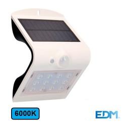 Aplique LED 1.5w 6000k 220lm Solar C/ Bateria Recargavel Solar - EDM