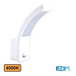 Aplique Exterior LED 10w 4000k 750lm C/ Sensor - EDM