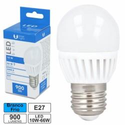 Lâmpada LED E27 10w Globo G45 6000k 900lm