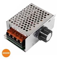 Regulador de Tensão SCR P/ Motor AC 230V C/ Dimmer 4000W