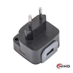 Alimentador 5v 2.4A USB Preto - Nimo
