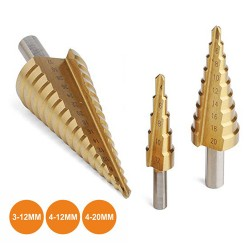 Conjunto de 3 Brocas CONE 3-12mm/4-20mm/4-12mm