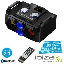 Sistema de Som Portátil 130W - USB/FM/BT/SD IBIZA