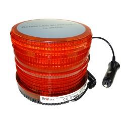 Pirilampo LED Estroboscópico e Rotativo Magnético Laranja 10-30V 36W