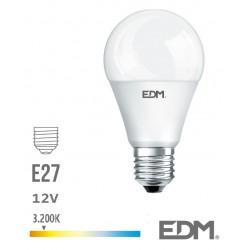 Lâmpada LED E27 Globo 12V 10W 3200k 810lm Branco Quente - EDM
