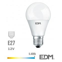 Lâmpada LED E27 Globo 12V 10W 6400k 810lm Branco Frio - EDM