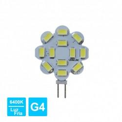 Lâmpada LED G4 1.8W 12V 12-Leds 6400K 150lm