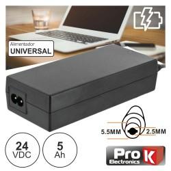 Alimentador Switching Dc 24v 5a 5.5x2.5mm - ProK