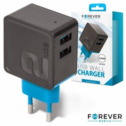 Alimentador/Carregador 5VDC 3.4A 2xUSB - Forever