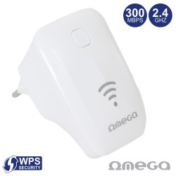 Repetidor Sinal Wi-Fi 2.4Ghz 300Mbps Tomada Rj45 WPS - Omega