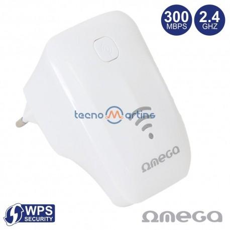 Repetidor Sinal Wi-Fi 2.4Ghz 300Mbps Tomada Rj45 WPS - Omega