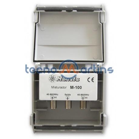 Misturador Antena 2 Entradas VHF / UHF - MANATA