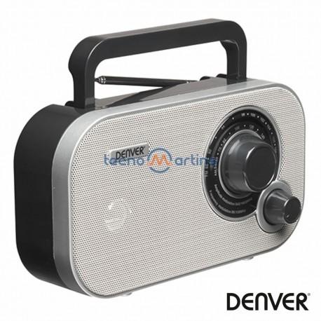 Rádio FM/AM/AUX Portátil Cinza - Denver