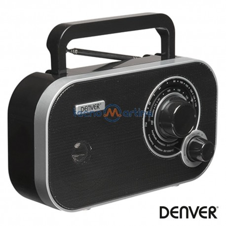 Rádio FM/AM/AUX Portátil Preto - Denver