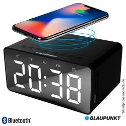 Relógio Despertador FM Bluetooth Qi USB - Blaupunkt