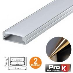 Perfil Aluminio P/Fita Leds 17x12.5x7mm 2Mt