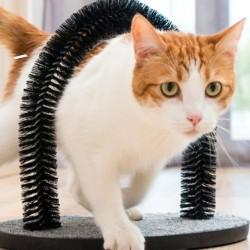 Raspador P/ Gatos e Arco Massajador C/ Cerdas Nylon