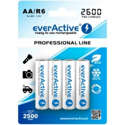 Baterias NiMh AA 2600mAh RTU - everActive