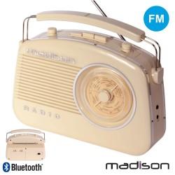 Rádio Portátil FM BT/AUX/MP3 Bateria 30W Vintage- Madison