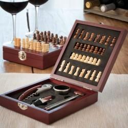 Tabuleiro de Xadrez com Acessórios para Vinho