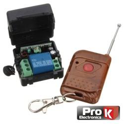 Kit Emissor Receptor de 1 Canal e 1 Comando Rf Prok