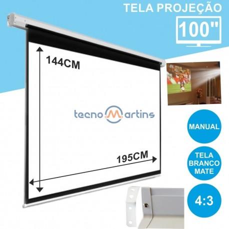 """Tela Projeção Manual Teto/parede 100"""""""