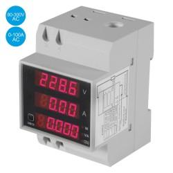 Medidor Digital Voltímetro e Amperímetro