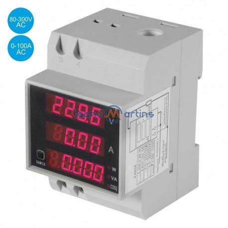 Medidor Digital Voltímetro Amperímetro