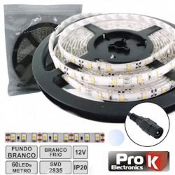 Fita 300 LEDs 2835 Branco Frio 12V 5Mt - Prok