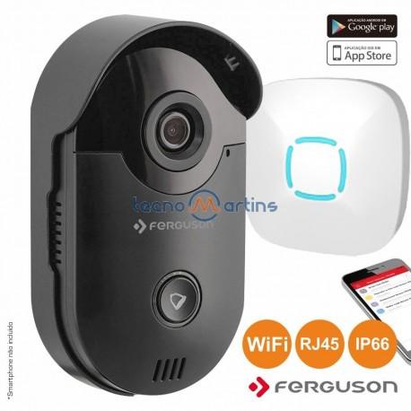 Vídeo Porteiro Wifi e Rj45 P/ Smartphone Ip66 - Ferguson