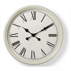 Relógio de Parede Analógico Branco 50Cm