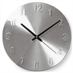 Relógio de Parede Analógico Alumínio 30Cm