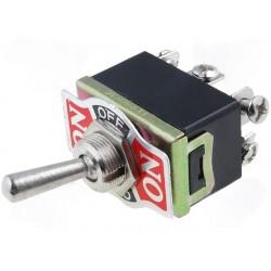 Interruptor de Alavanca 3 Posições Estáveis - ON-OFF-ON - 250VAC 10A (